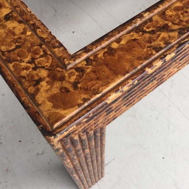 Mid-Century Modern Tortoiseshell Burnt Bamboo Design Table For Sale - Image 3 of 5
