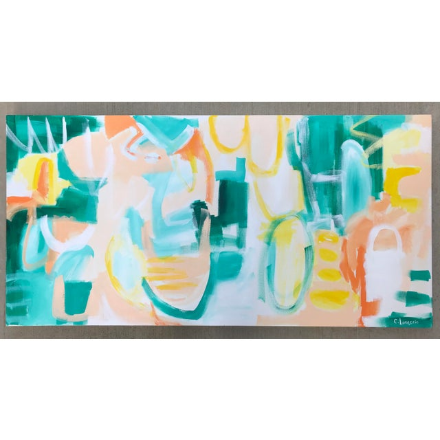 """2010s Christina Longoria """"Summer Garden"""" Contemporary Abstract Painting For Sale - Image 5 of 5"""