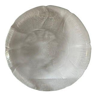 1990's Vintage Sand Dollar Glass Serving Plate For Sale