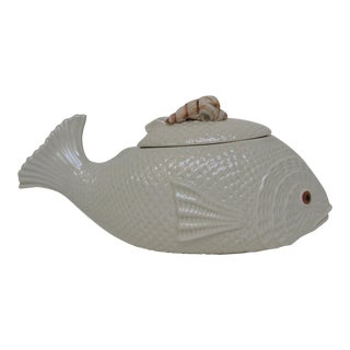Fish-Shape Ceramic Tureen For Sale