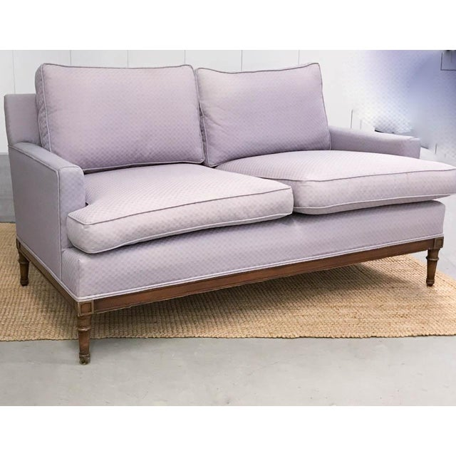 Mid-Century Faux Bamboo Small Sofas - A Pair - Image 3 of 9