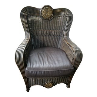 Antique Hand Made Southern Style Bamboo Chair