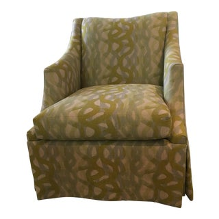 Charles Stewart Lounge Swivel Chair For Sale