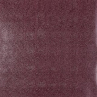 Sample - Schumacher Shagreen Wallpaper in Cordovan For Sale
