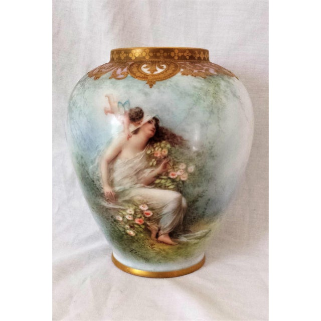 Antique French Figural Gilt Vase - Image 2 of 10