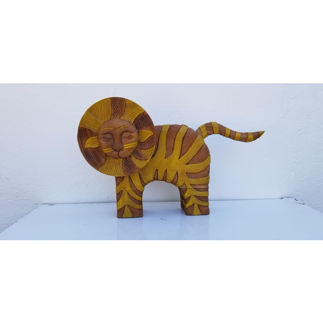 Guido Gambone Style Sun Lion Sculpture For Sale - Image 11 of 11