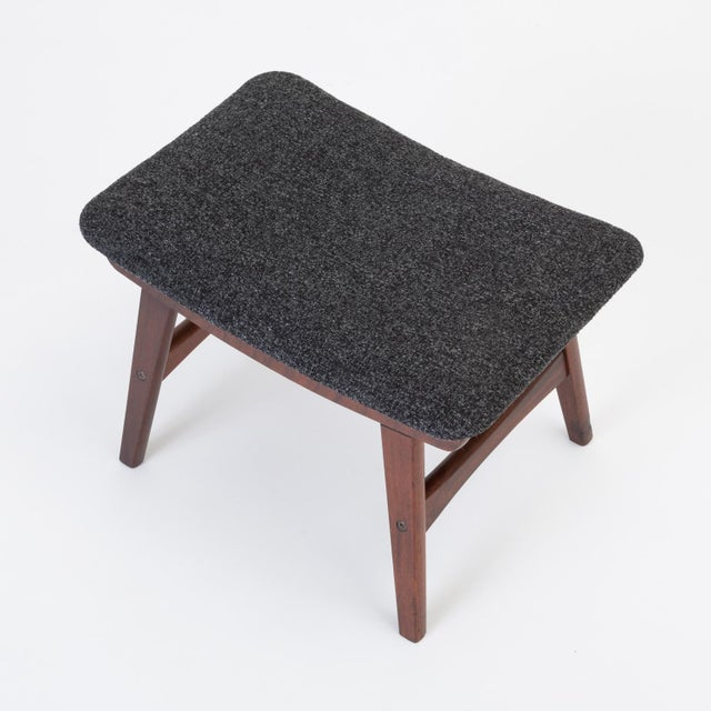 Scandinavian Modern Teak Ottoman With Upholstered Cushion For Sale - Image 10 of 13
