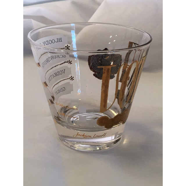 Vintage Jackson Lowell Vodka Glassware Signed - Set of 4 For Sale In Charlotte - Image 6 of 11