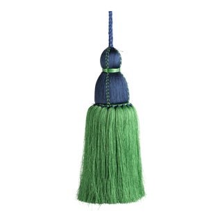 Navy & Green Tassel, Large For Sale