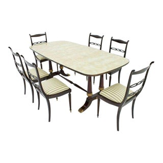 Italien Dining Suite From 1959, Table and Six Chairs For Sale