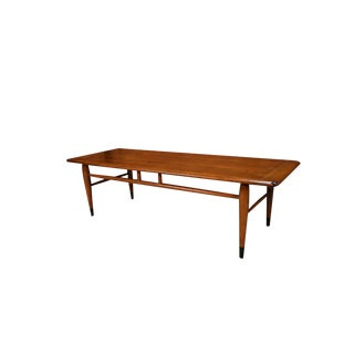 Mid Century Modern Furniture Lane Coffee Table Inlaid Dovetail For Sale