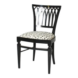 Ebony Italian Side Chair, C. 1950