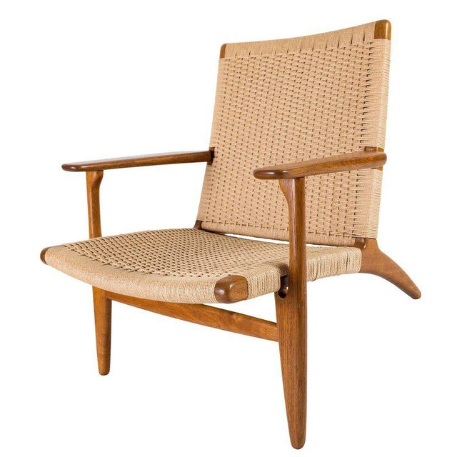 Tan Hans Wegner Ch-25 Lounge Chair For Sale - Image 8 of 10