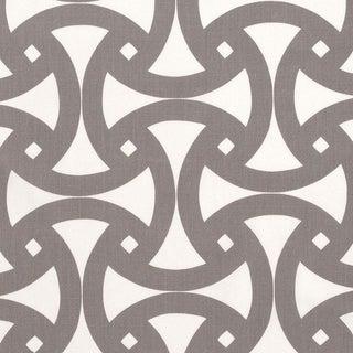 Schumacher X Trina Turk Santorini Print Indoor/ Outdoor Fabric in Fog For Sale