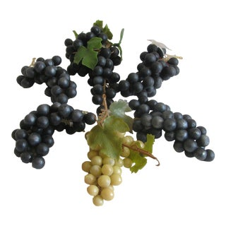 Mid-Century Rubber Grapes, Set of 6 For Sale