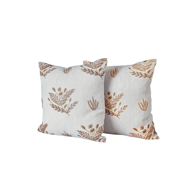 Traditional Custom Emily Lavender Knife Edge Pillows - a Pair For Sale - Image 3 of 6