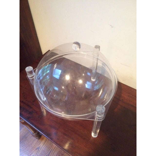 Mid-Century Lucite Covered Bowl For Sale In New York - Image 6 of 8