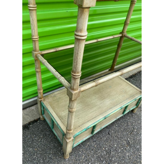 Mid-Century Modern Faux Bamboo Etagere For Sale In New York - Image 6 of 10