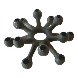 Dansk Danish Modern Spider Iron Candle Holder For Sale
