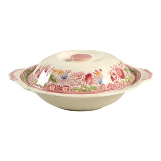 Johnson Brothers Dorchester Round Covered Serving Bowl For Sale