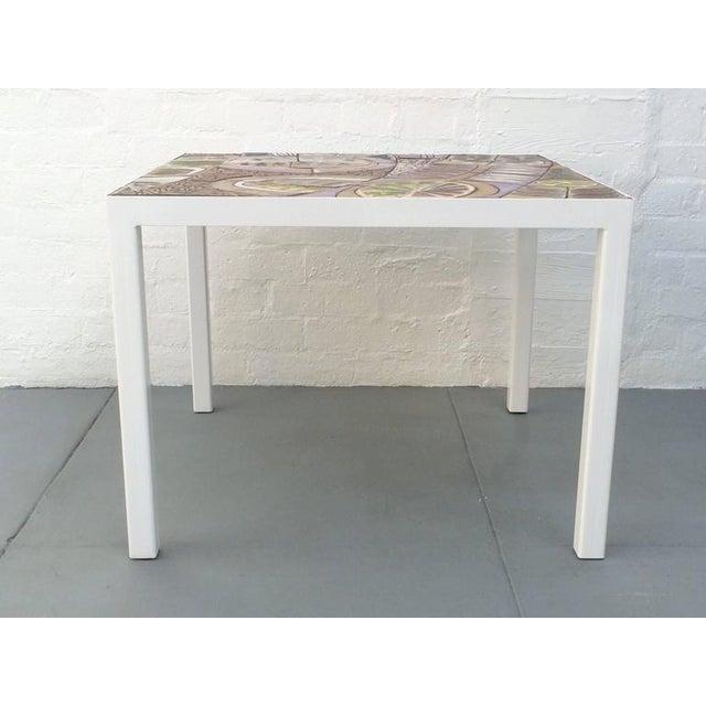 Studio Ceramic Tile Top Table by Brent Bennett For Sale - Image 9 of 10
