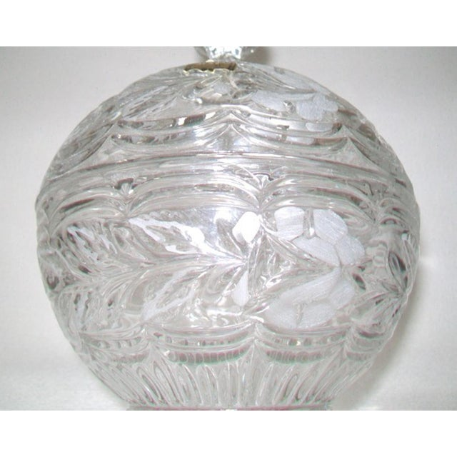 Traditional European Crystal Domed Lidded Dish For Sale - Image 3 of 6