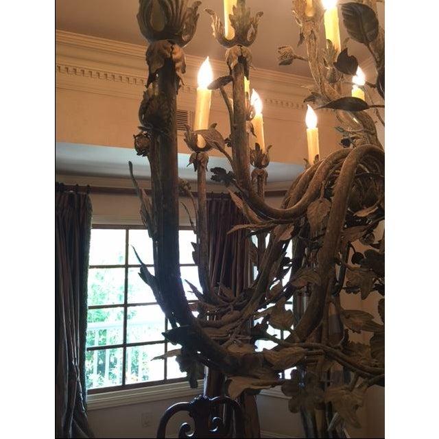 24-Light Decorative Ironwork Chandelier - Image 3 of 4