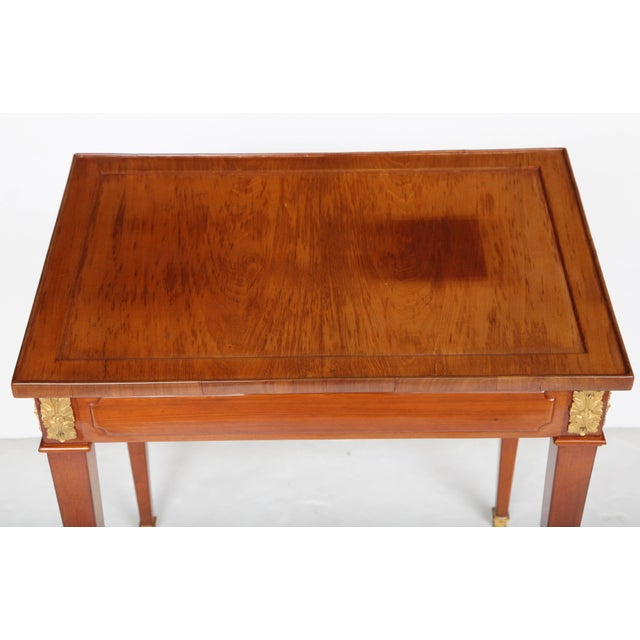 Brown Louis XVI Writing Table For Sale - Image 8 of 11