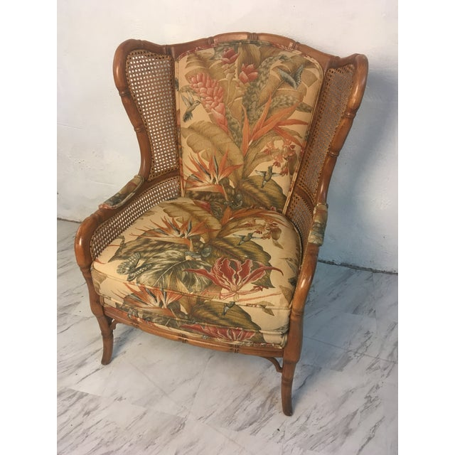 Vintage Cane Wingback For Sale In Charleston - Image 6 of 9