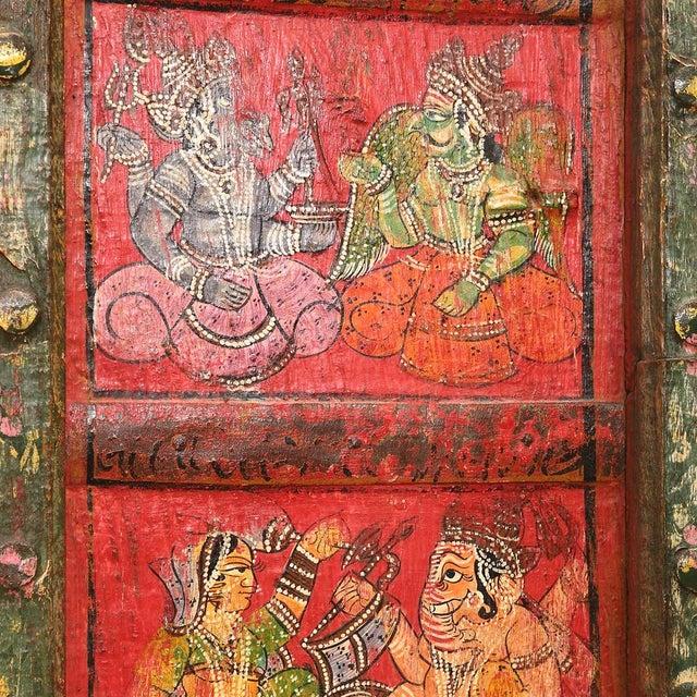Folk Painted Mandawa Door - Image 4 of 4