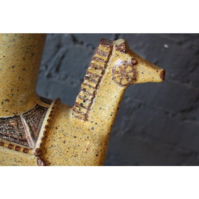 1960s Italian Gambone-Style Ceramic Horse Lamp For Sale - Image 5 of 7