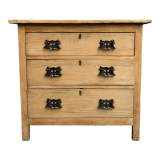 1920's Antique English Country Pine Chest Of Drawers For Sale