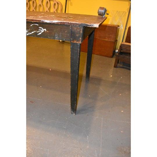 Fantastic Antique Primitive Industrial Work Bench Table Chairish Frankydiablos Diy Chair Ideas Frankydiabloscom