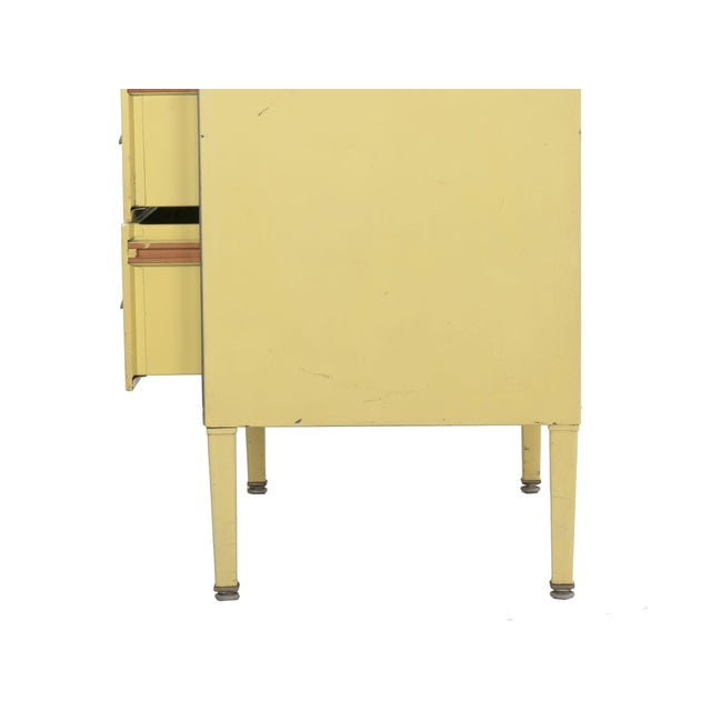 Circa 1930s Art Deco Yellow Enamel Chest of Drawers Dresser by Norman Bel Geddes For Sale - Image 11 of 13