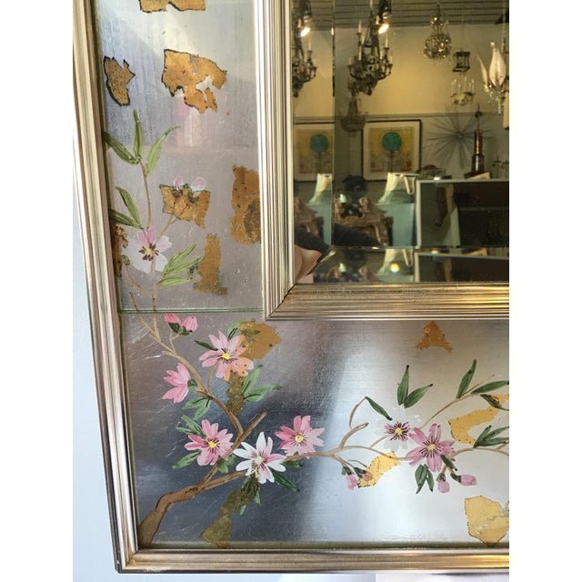 La Barge Floral Silver Leaf Mirror For Sale In New York - Image 6 of 9