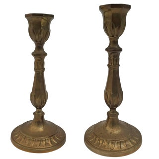 Pair of Antique French Candlesticks For Sale