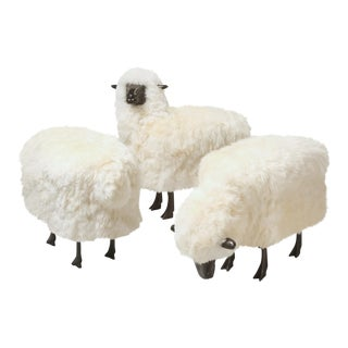 Old Plank Collection of Three Sheep For Sale