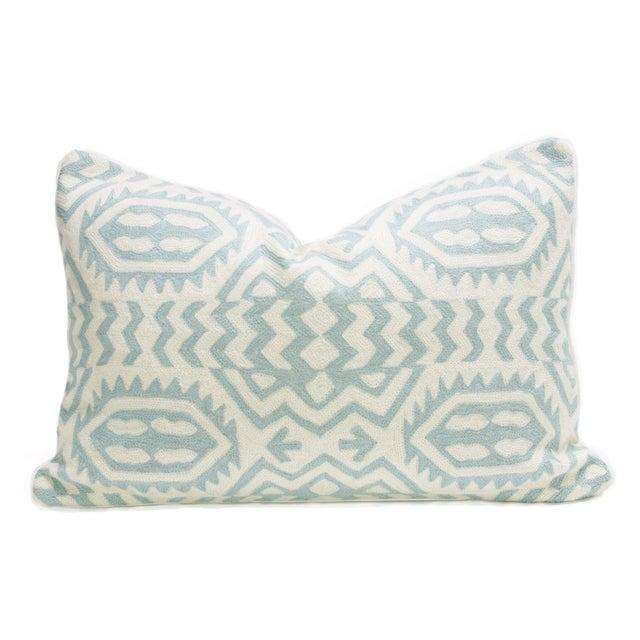 Kashmiri Native Tribal Turquoise Pillow - Image 1 of 3