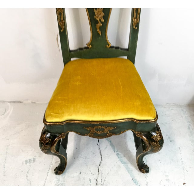 19th C. Venetian Carved & Gilded Chairs - a Pair - Image 3 of 6