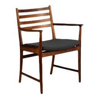 Vintage Danish Rosewood Captain's Chair For Sale