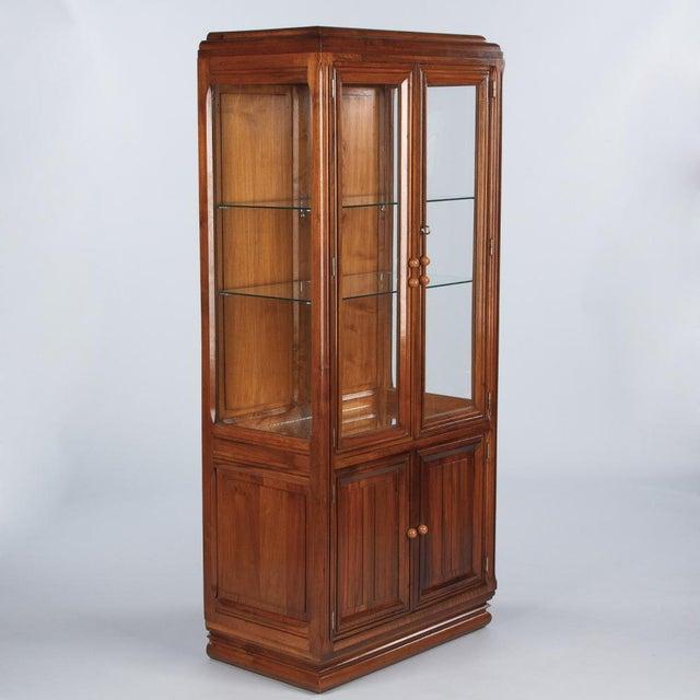 French Art Deco Walnut Vitrine/Display Cabinet - Image 3 of 11