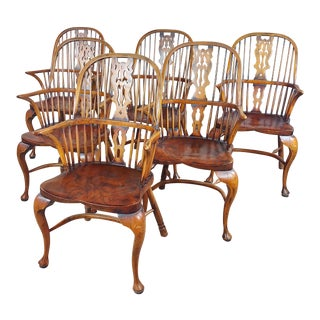 1940s Bow Back Windsor Chairs - Set of 6 For Sale