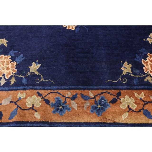 Early 20th Century Antique Chinese Peking Accent Rug - 3′11″ × 6′8″ For Sale - Image 9 of 10