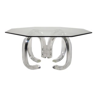 Mid-Century Lucite Coffee Table For Sale