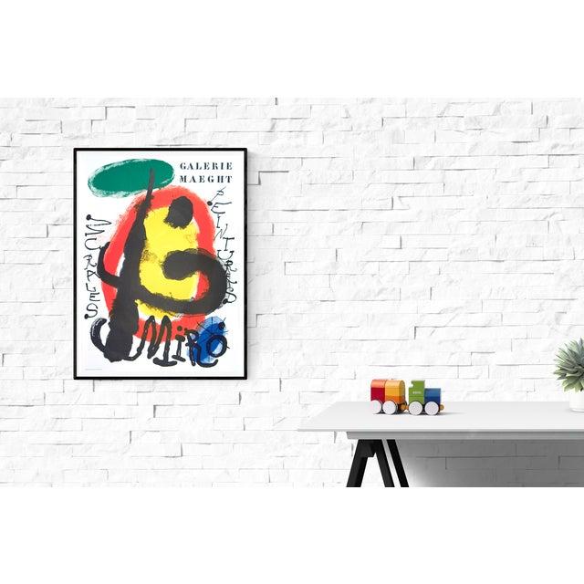 """Reference #13 from J. Corredor-Matheos, """"Miro's Posters', 1980 """"Peintures Murales"""" Exhibition. 1961. Poster produced for..."""
