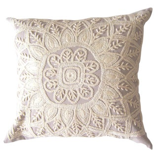 Grey Embroidered Pillow Sham