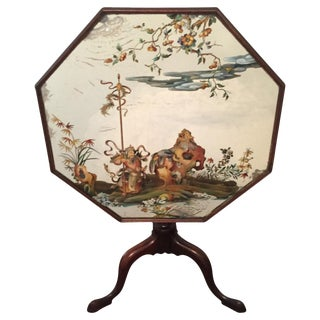 English Mirrored Tilt Top Table For Sale
