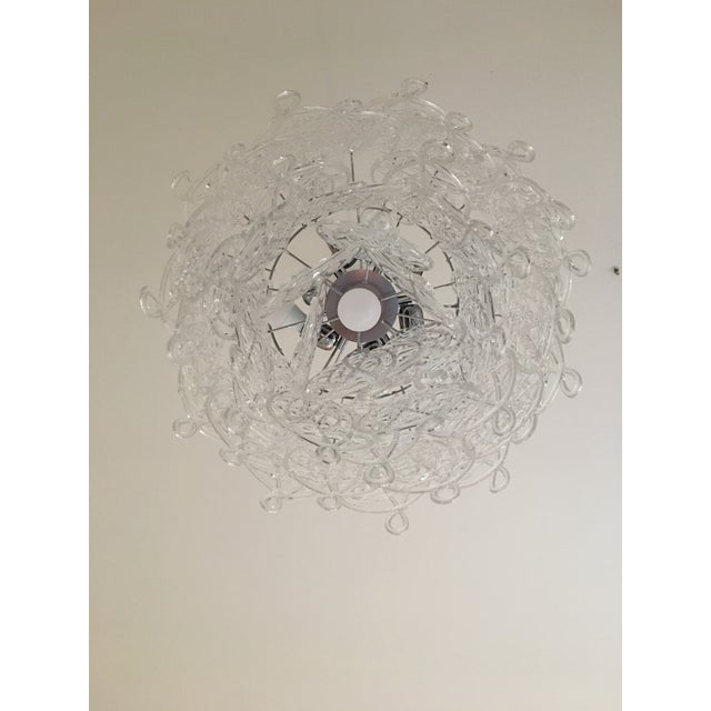 "Contemporary Murano Glass Triedo Sputnik Chandelier. diameter 60 cm = 23.6"" height 50 cm = 19.7"" murano glass trasparent..."