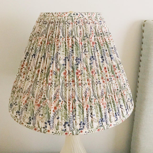 Not Yet Made - Made To Order Pleated Floral Lamp Shade, Liberty London Fabric For Sale - Image 5 of 7