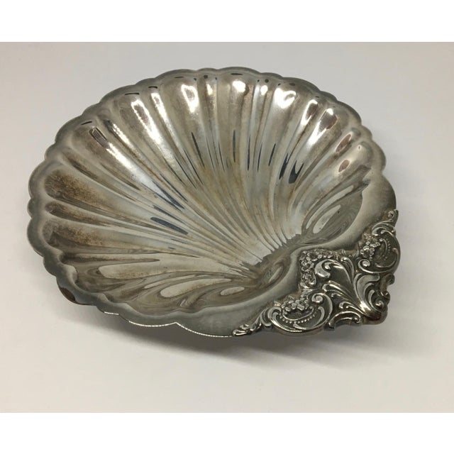 1940s Wallace Silversmiths Baroque Serving Dish For Sale - Image 5 of 5